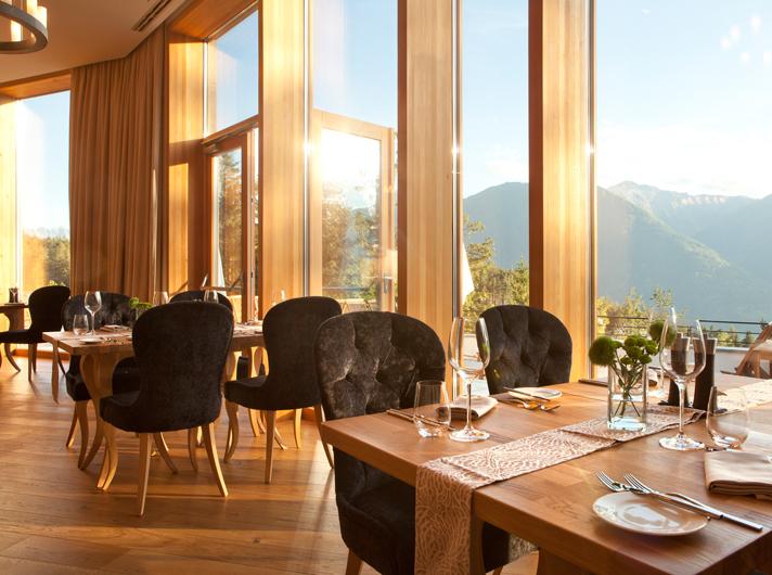 Restaurant area at the NIDUM hotel