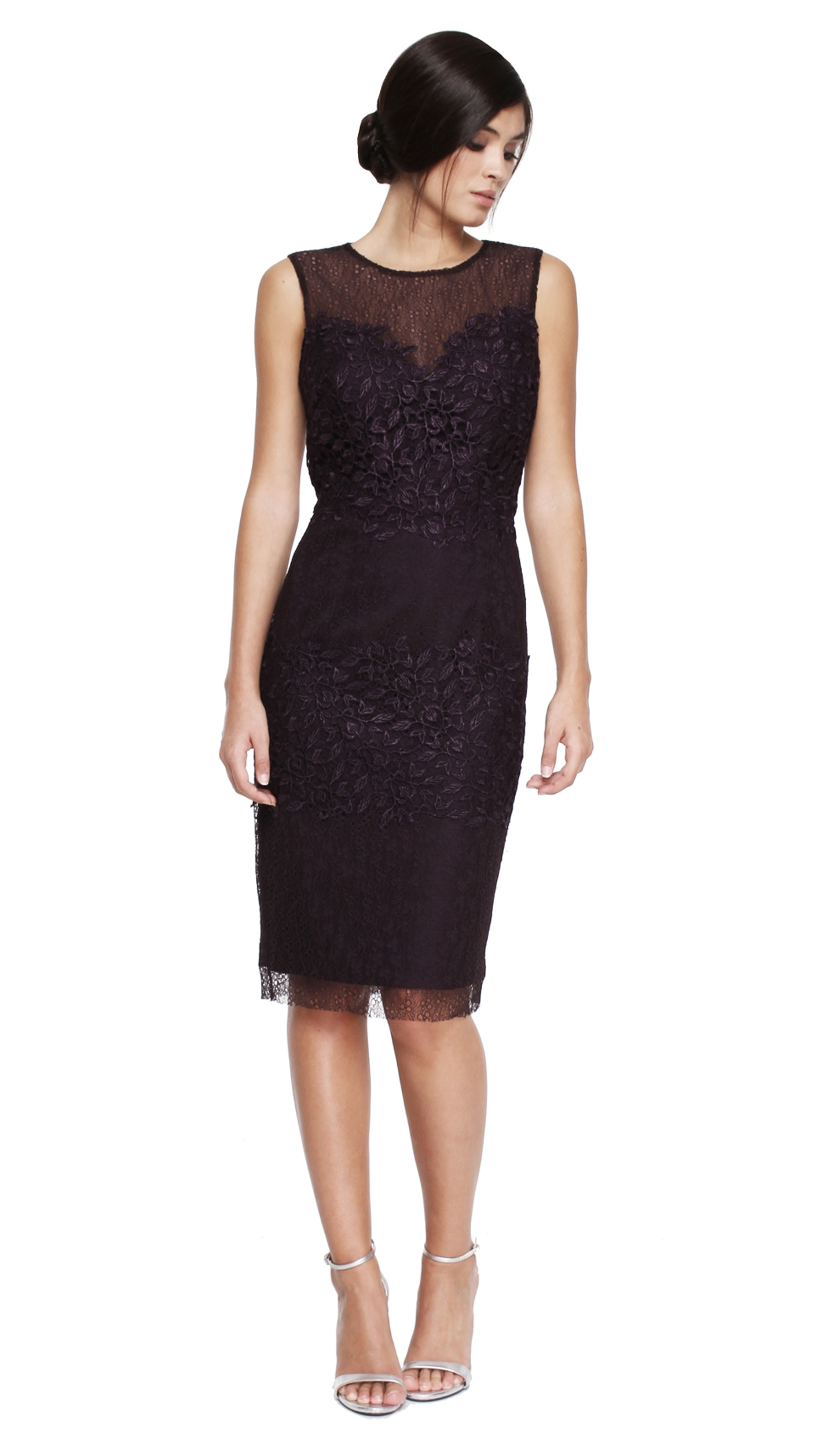 Purple Lace Cocktail Dress - ML MONIQUE LHUILLIER — Chic by Choice ...