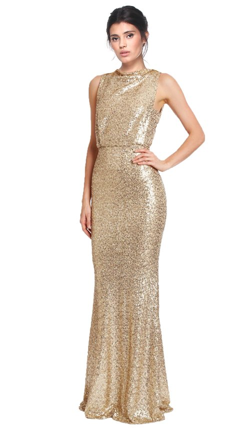 All Over Sequin Golden Gown - BADGLEY MISCHKA — Chic by Choice Sale
