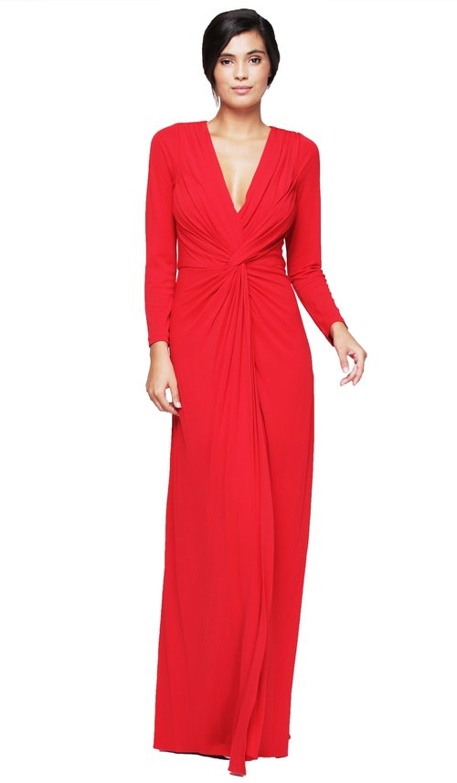 Twist Front Long Sleeve Gown - BADGLEY MISCHKA — Chic by Choice Sale