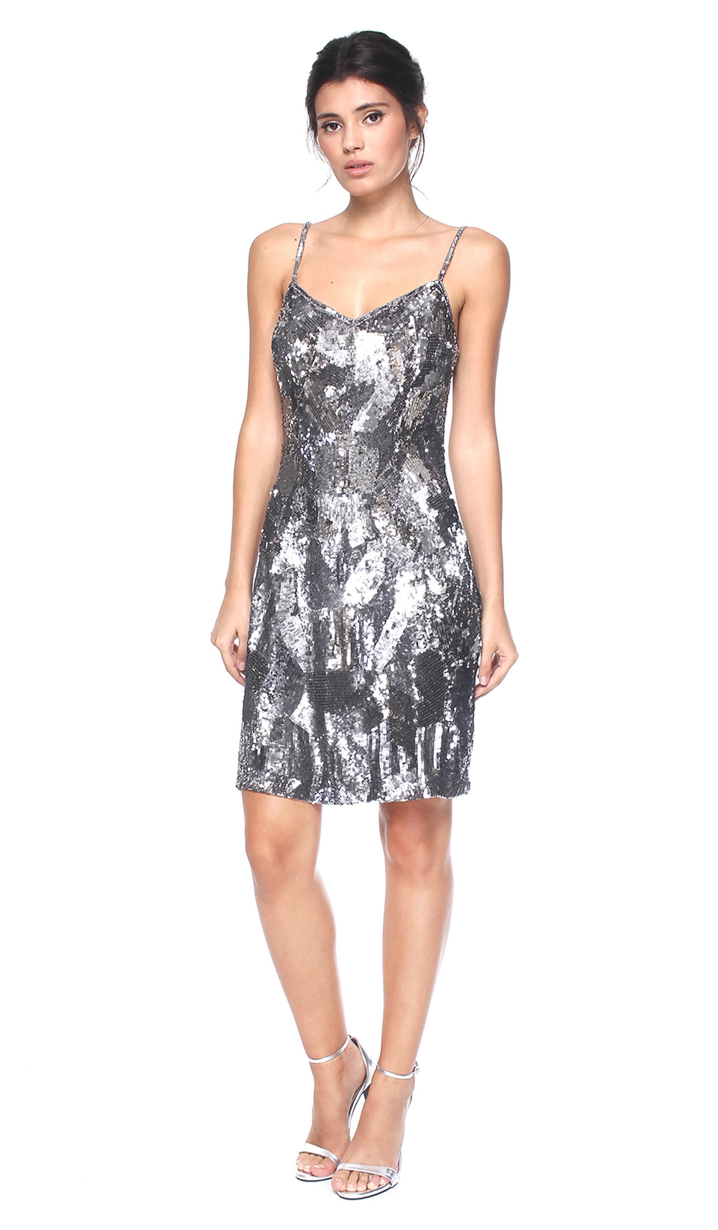947e72a2f6d Grey Sequined Dress - THEIA COUTURE — Chic by Choice Sale