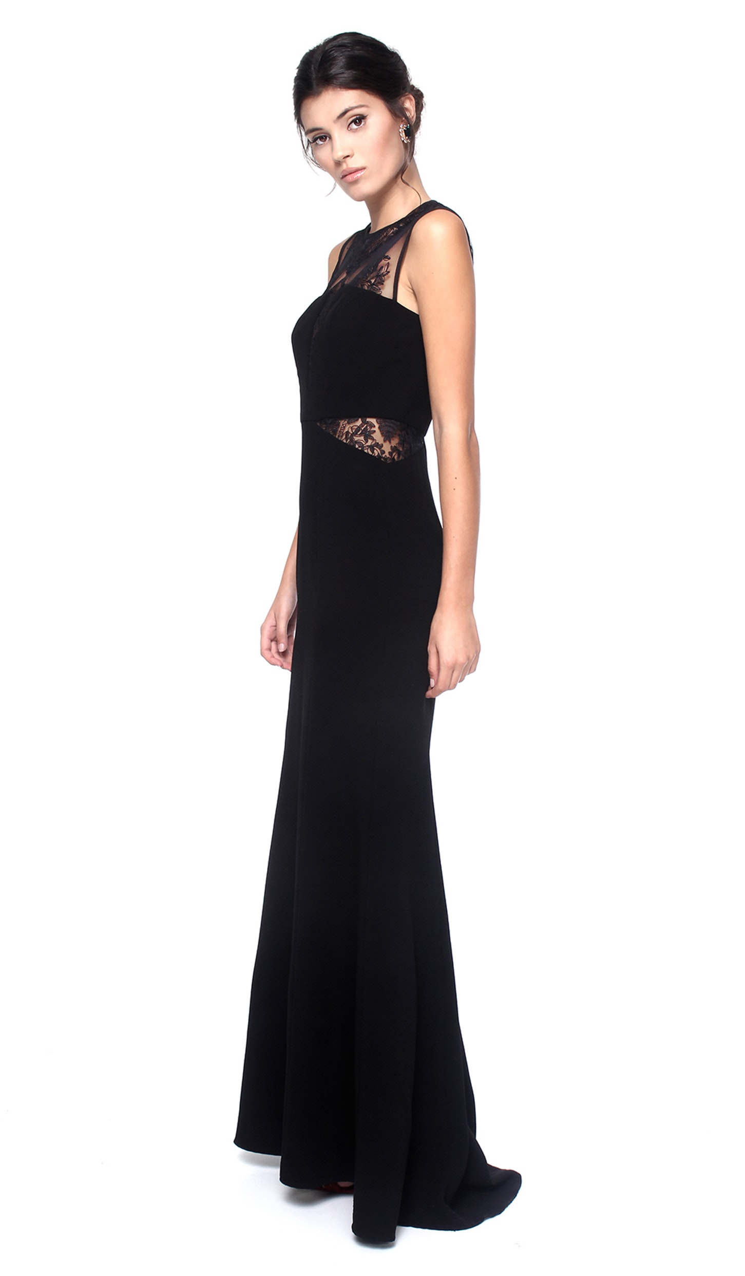 Black Lace Evening Gown - FOUR FLAVOR — Chic by Choice Sale
