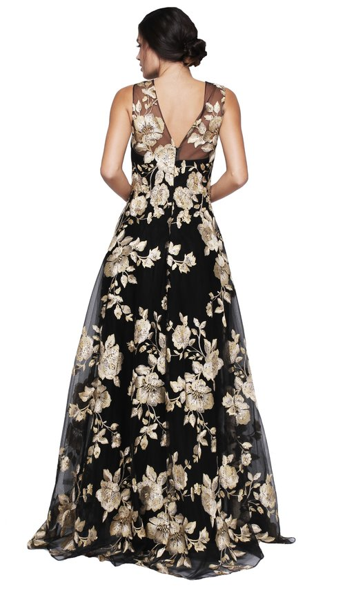 Marchesa Notte Embroidered Tulle Dress ...