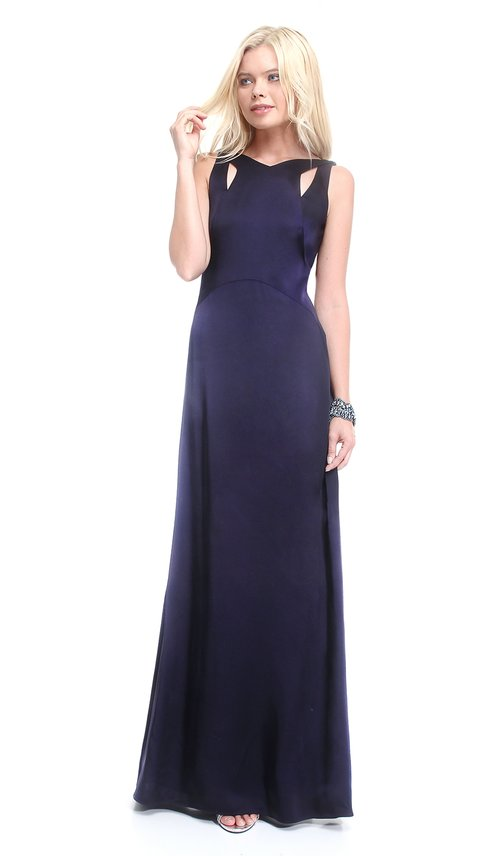 Navy Blue Cutout Gown - DAVID MEISTER — Chic by Choice Sale