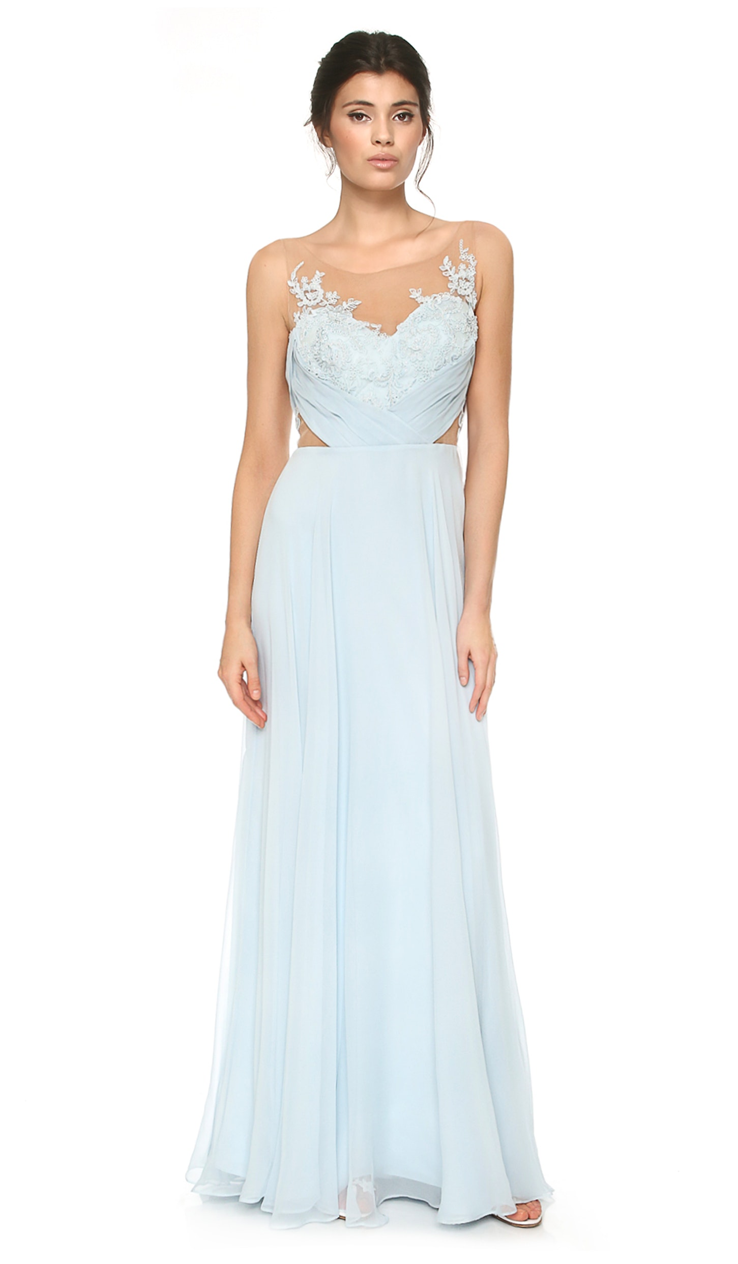 Blue Chiffon Gown - MARCHESA NOTTE — Chic by Choice Sale