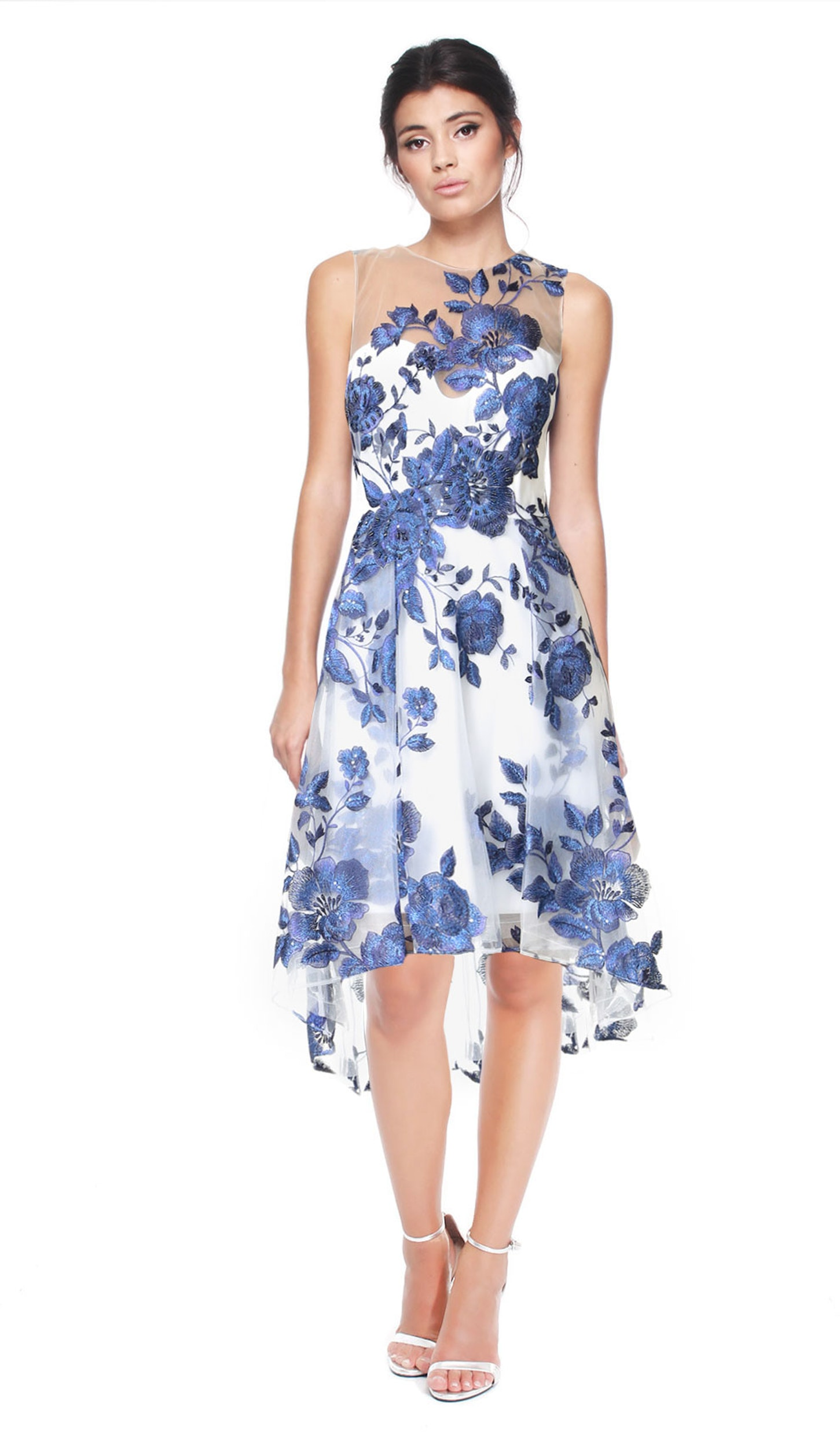 Floral Embroidered Cocktail Dress - MARCHESA NOTTE — Chic by Choice Sale