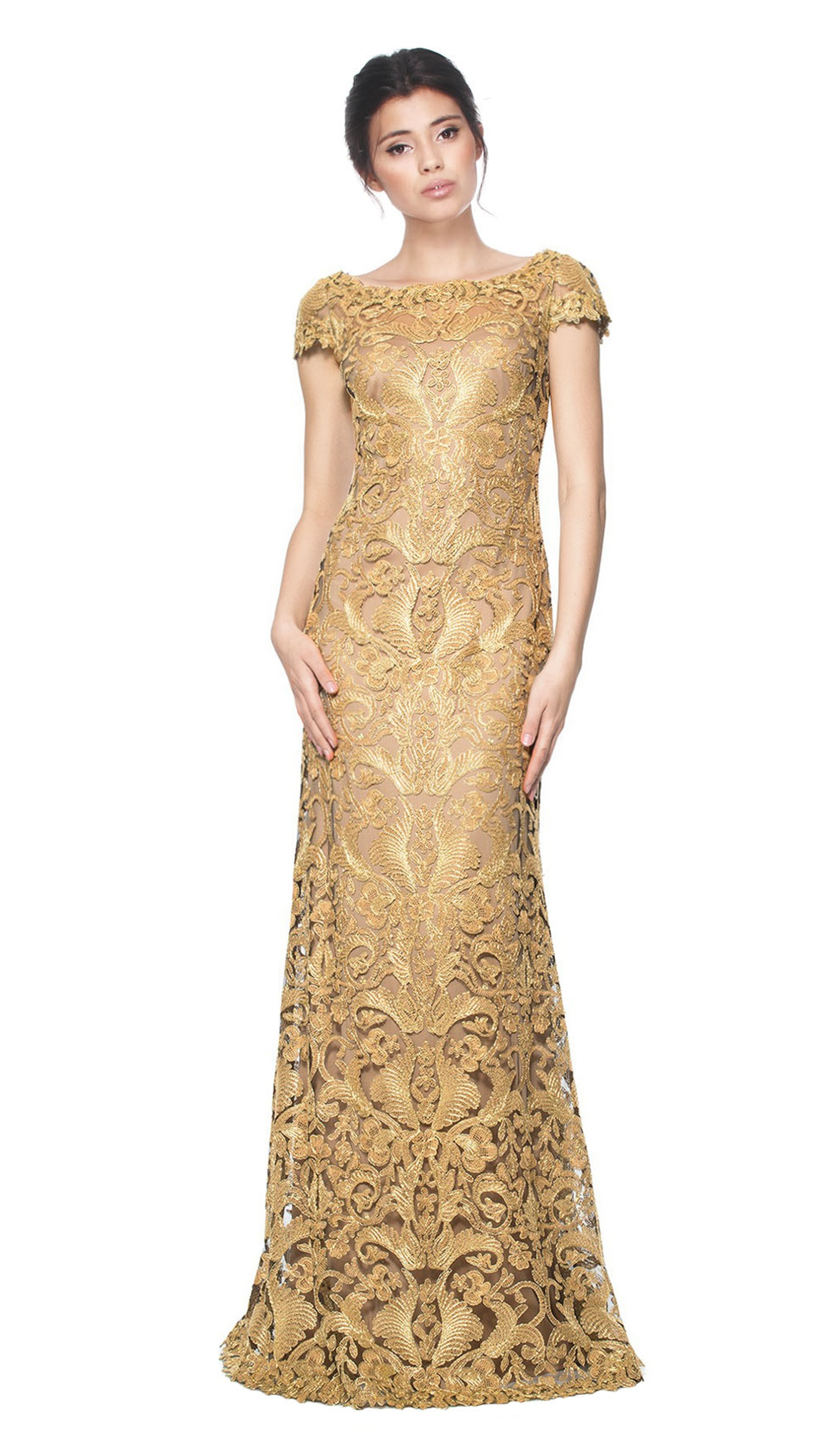 Golden Embroidered Gown - TADASHI SHOJI — Chic by Choice Sale