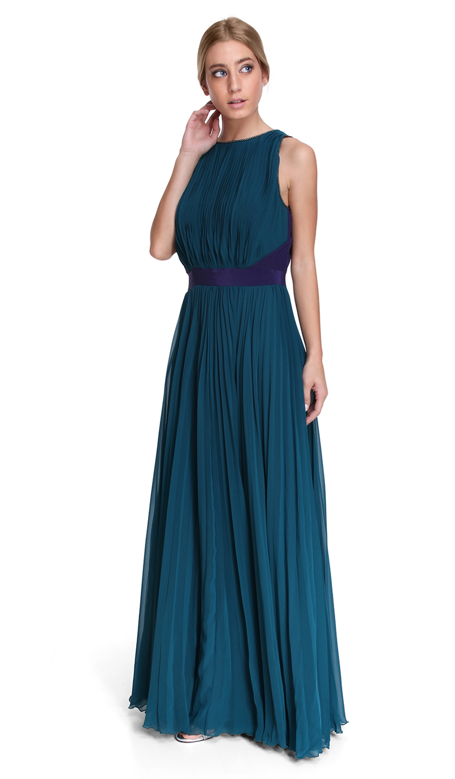 Purple and Green Gown - HALSTON HERITAGE — Chic by Choice Sale