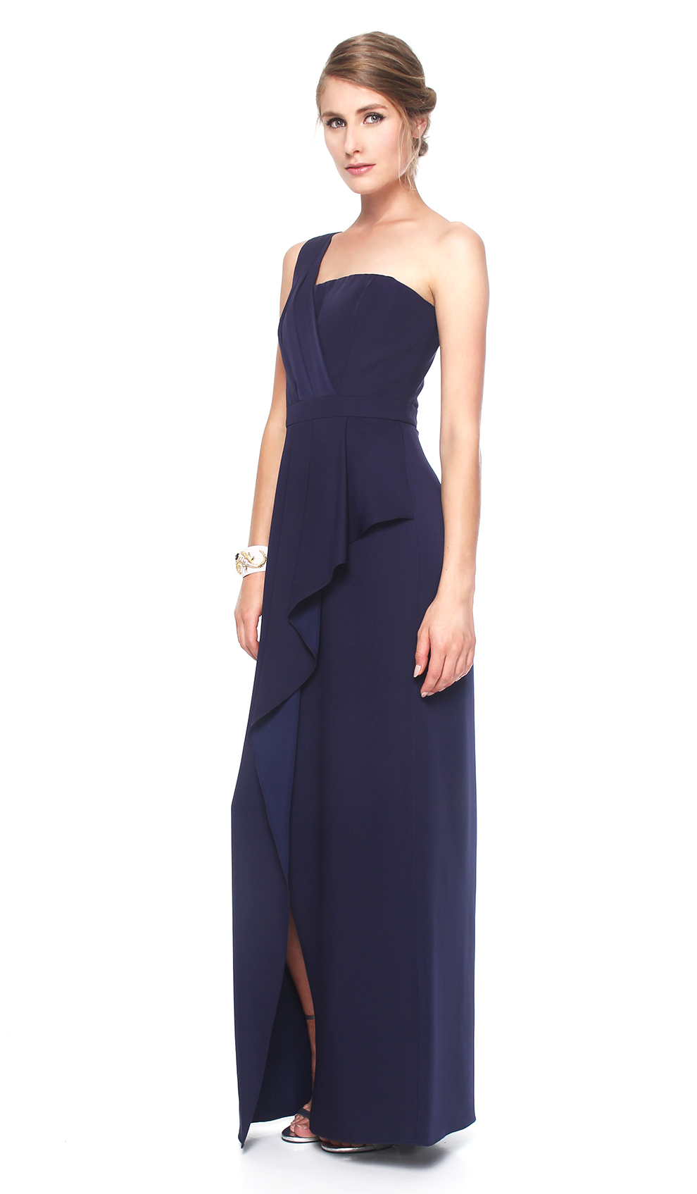 One shoulder midnight-blue gown - BCBG MAX AZRIA — Chic by Choice Sale