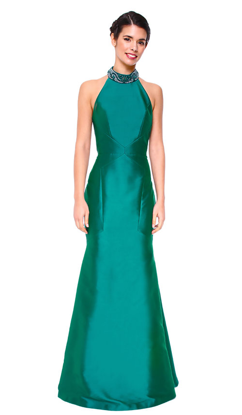 Blue Grass Embellished Mermaid Gown - THEIA COUTURE — Chic by Choice ...