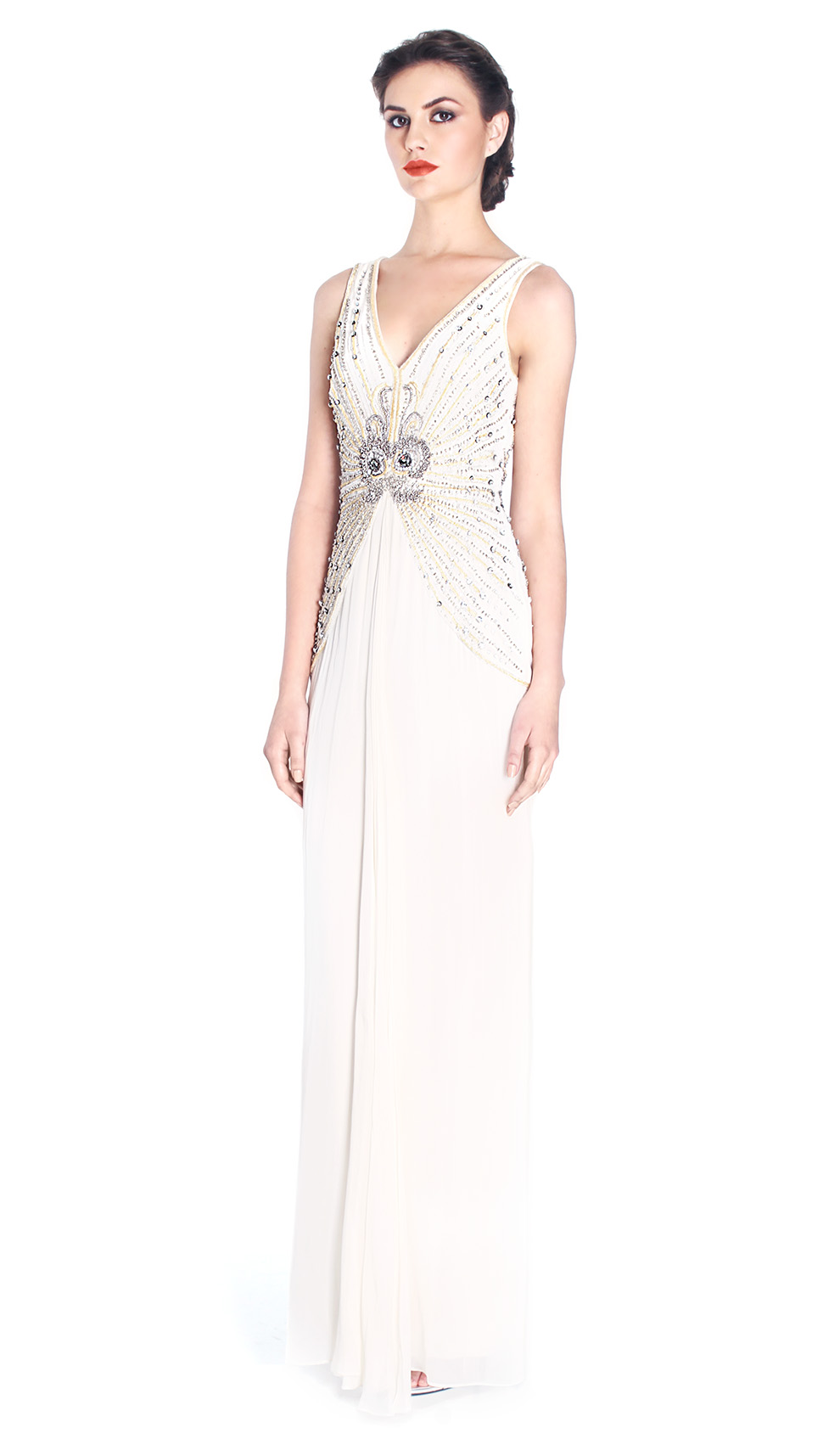 Embellished White Silk Gown - TEMPERLEY LONDOND — Chic by Choice Sale