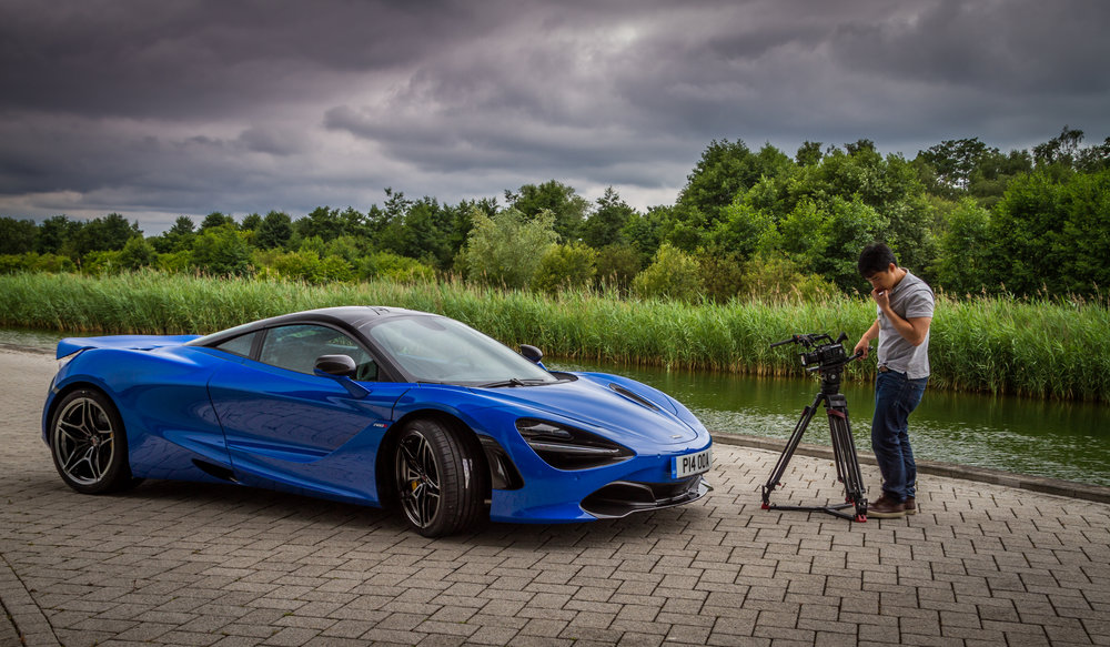 The McLaren 720S being assessed.