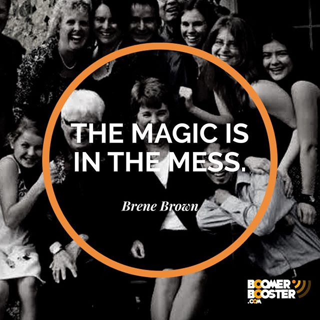 """As we approach the festive season, remember life is not perfect. It brings challenges along with the blessings. Differences to be embraced, mistakes to be forgiven, people to help. It can get messy. So when it comes to life, remember .....""""magic is in the mess"""" - Brene Brown #merrychristmas"""