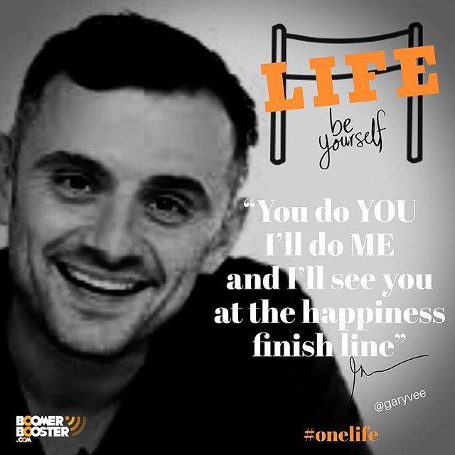 """Timely advice from @garyvee  reminding us to live our own life while respecting others to do the same.  I LIVE FOR ME, YOU LIVE FOR YOU """"I will never impose anything on you accept for you to deploy #selfawareness and to live your life for #happiness that is defined by you, not by me, your family, society etc"""" - """"Please don't feel pressure to do things that don't make you happy, do you, I'll do me and I'll see you at the happiness finish line"""" - #onelife - Tag someone that could use this reminder during the holidays  @garyvee"""