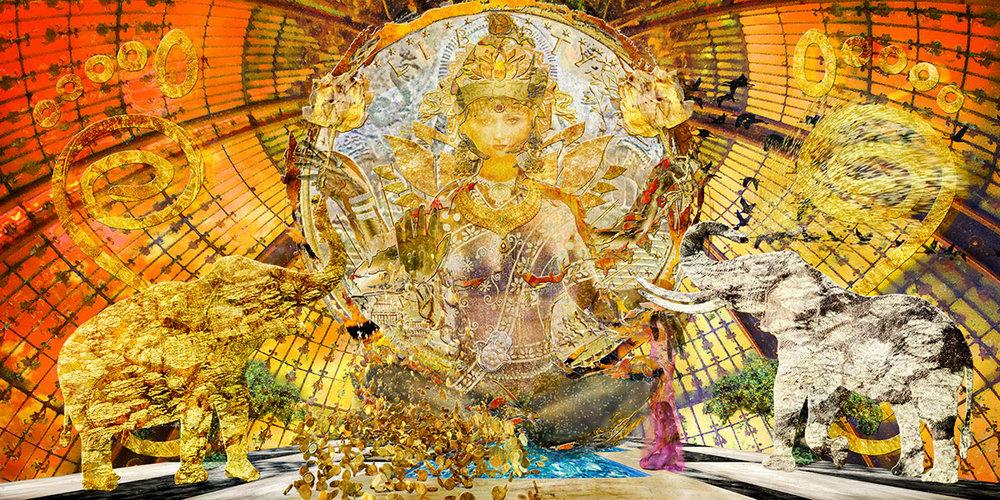 """Resurrection (Lakshmi - Goddess of Health and Wealth"""