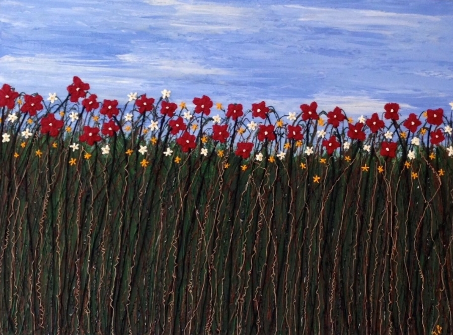 Woy Woy Bay Flowers 150cm x 90cm SOLD
