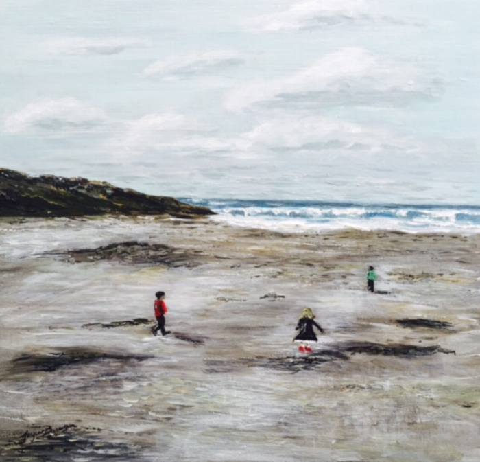 Irish Beach 25cm x 25cm SOLD