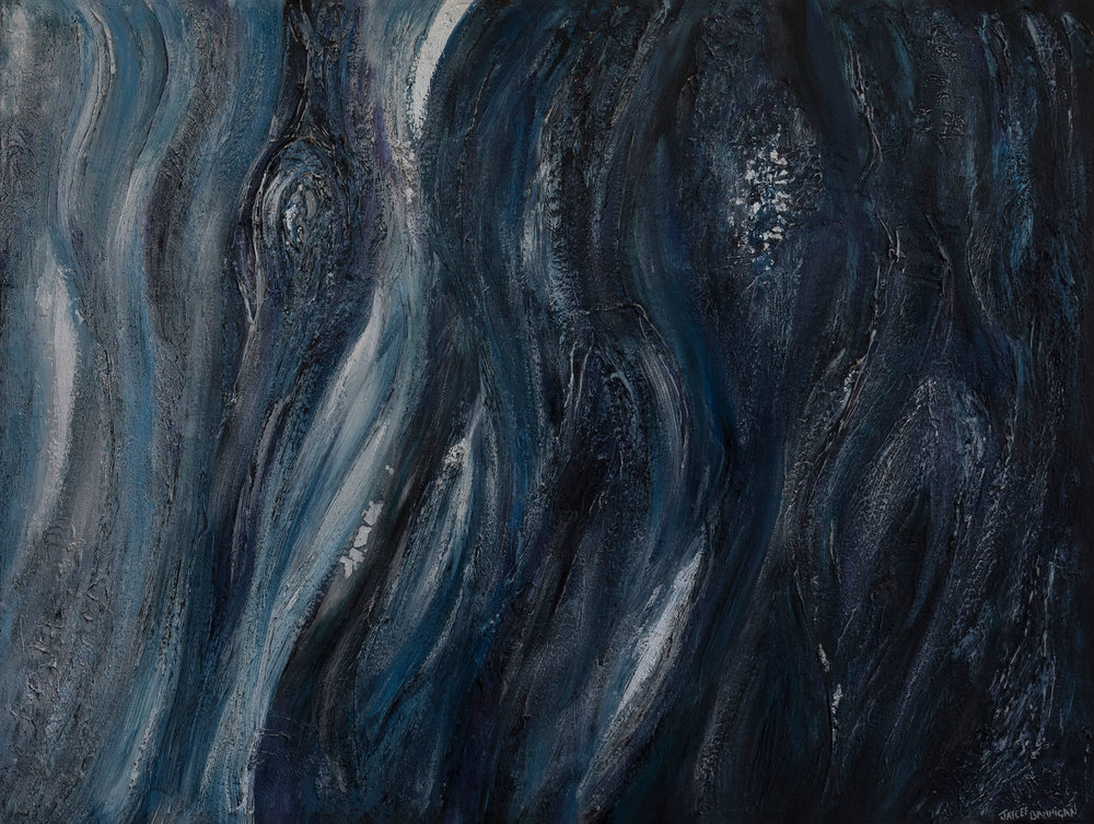 'Blue Snow gum' acrylic on canvas 115cm x 60cm FOR SALE