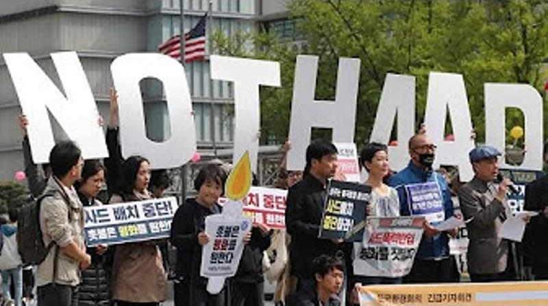 South Koreans protest US anti-missile system