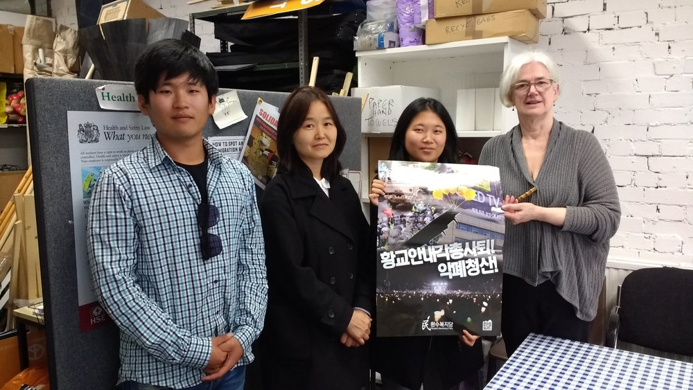 South Korean Peace Expedition at CND office