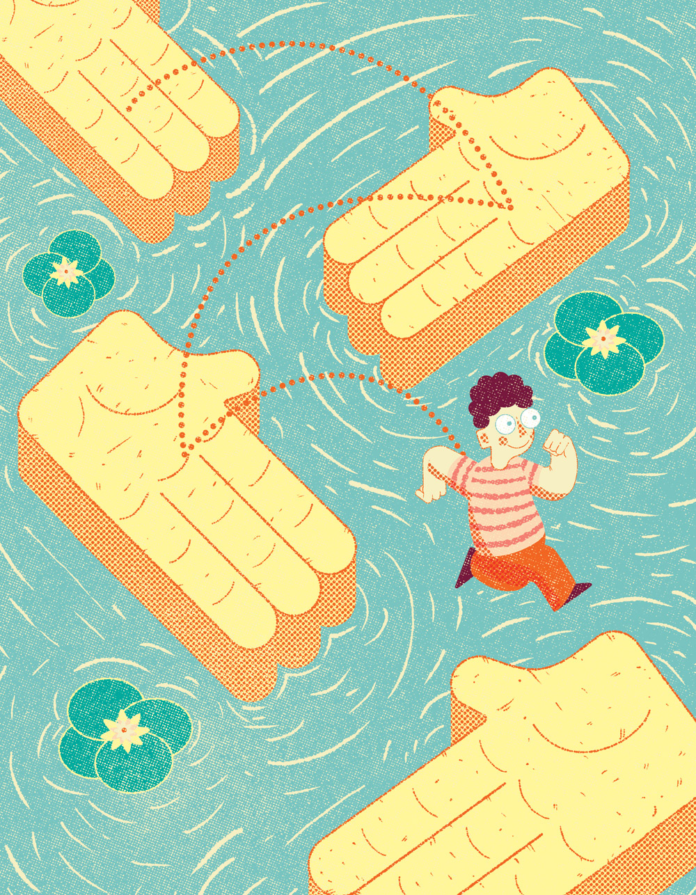Cover illustration for Bulletin magazine, the monthly publication of the Royal College of Speech & Language Therapists.