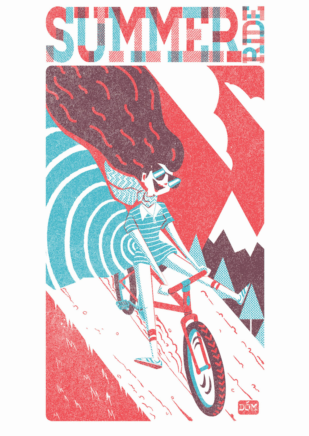 Limited edition screen print for Artcrank USA exhibition, UK.