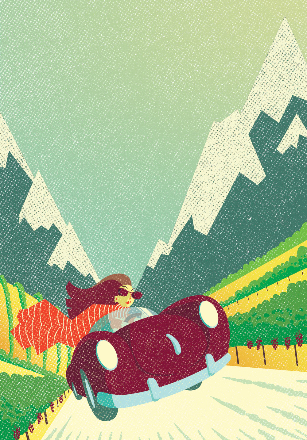 Cover illustration for Wine Republic magazine, Argentina.