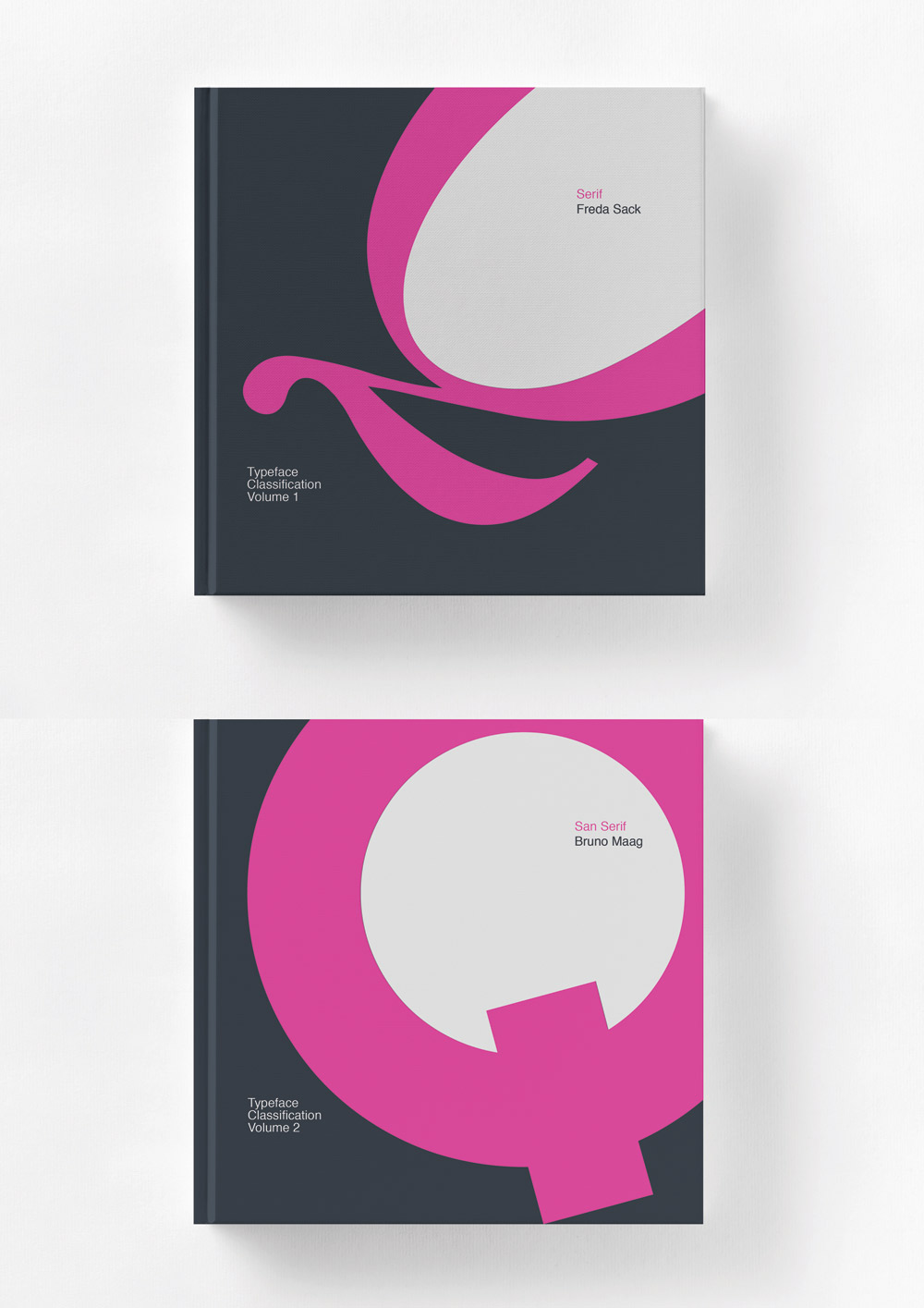 Typographical book covers.