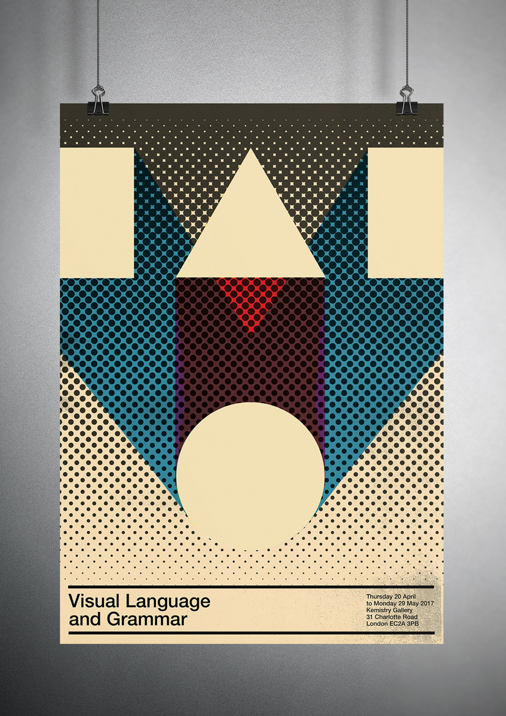 Poster for series of talks on Visual Language and Grammar.
