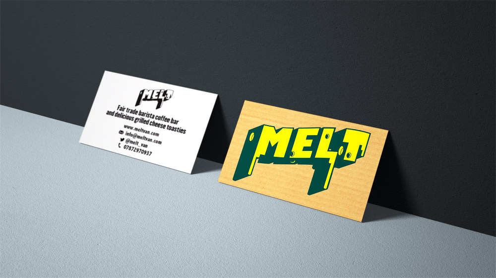 Business card design, Melt food truck.