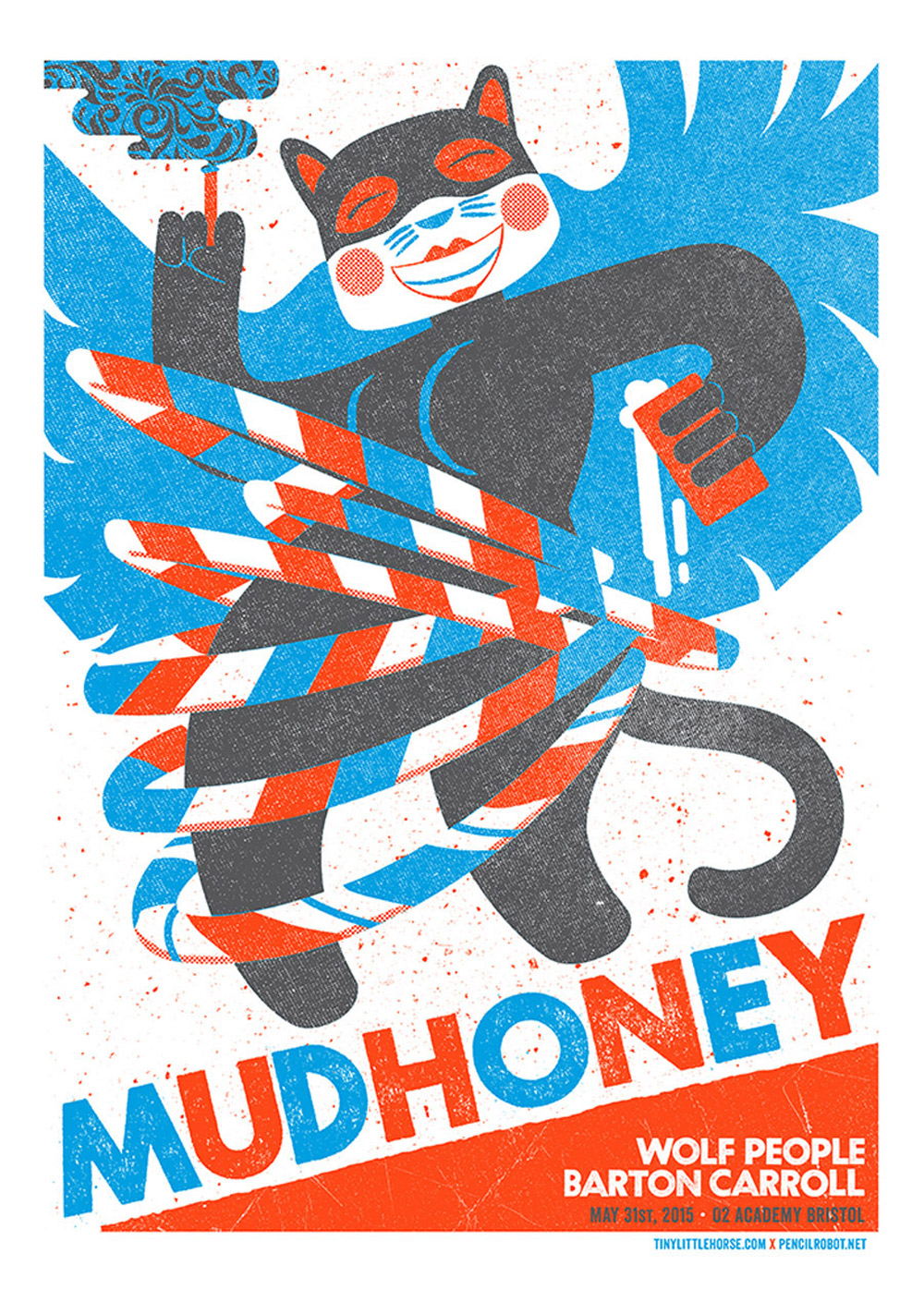 Limited edition screen print, Secret Serpents and Mudhoney.