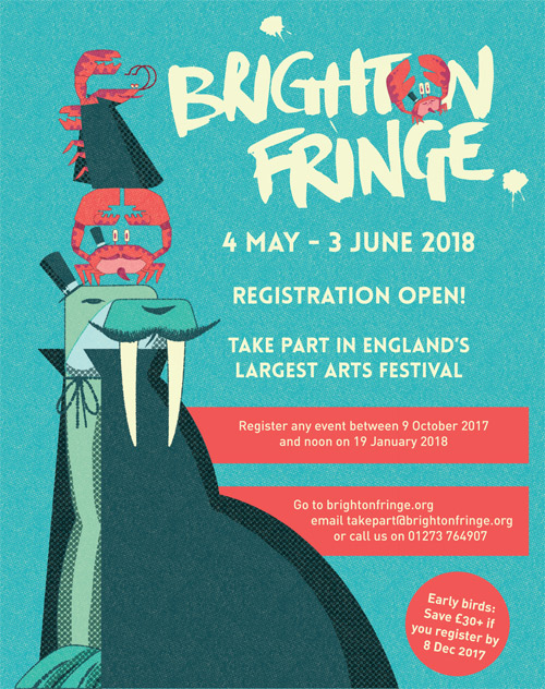 Illustration for Brighton Fringe Festival 2018.