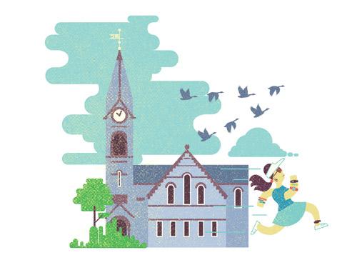 Illustration for Umass, the magazine for the University of Massachusetts.