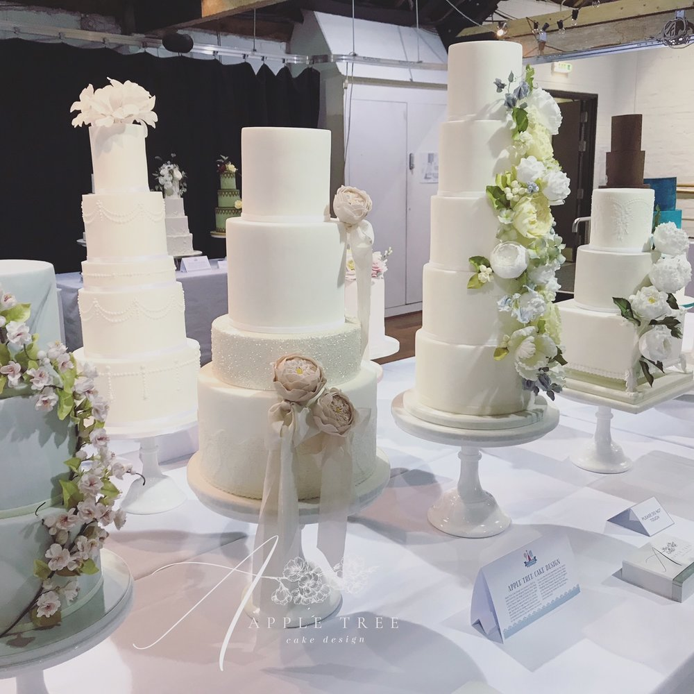 My cakes on display in the Wedding Cake Showroom.