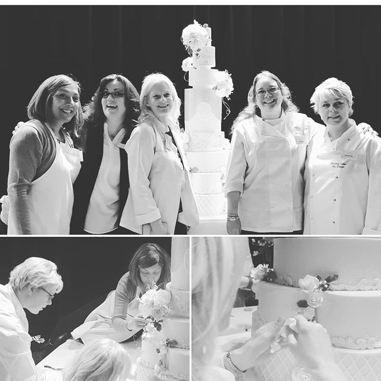 Me with my cake buddies working on the Royal Wedding Cake collaboration!