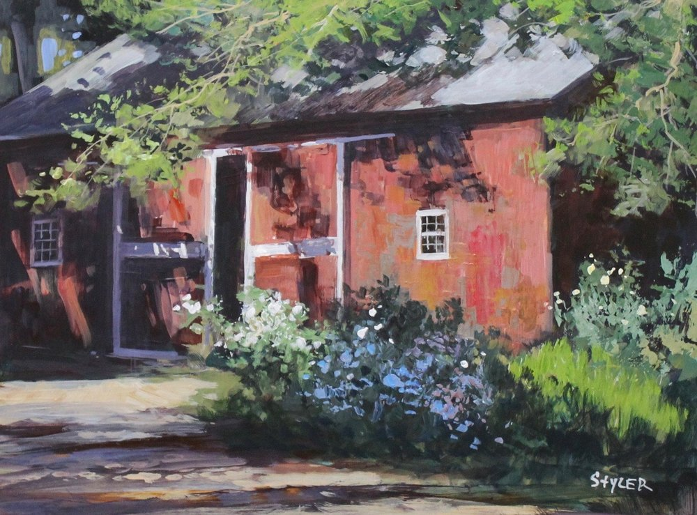 Great Hollow Barn 12x16(Sold) Acrylic -