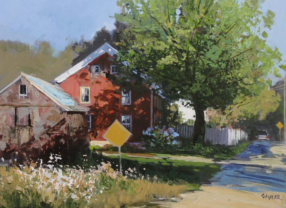 Red House 12x16 Acrylic -