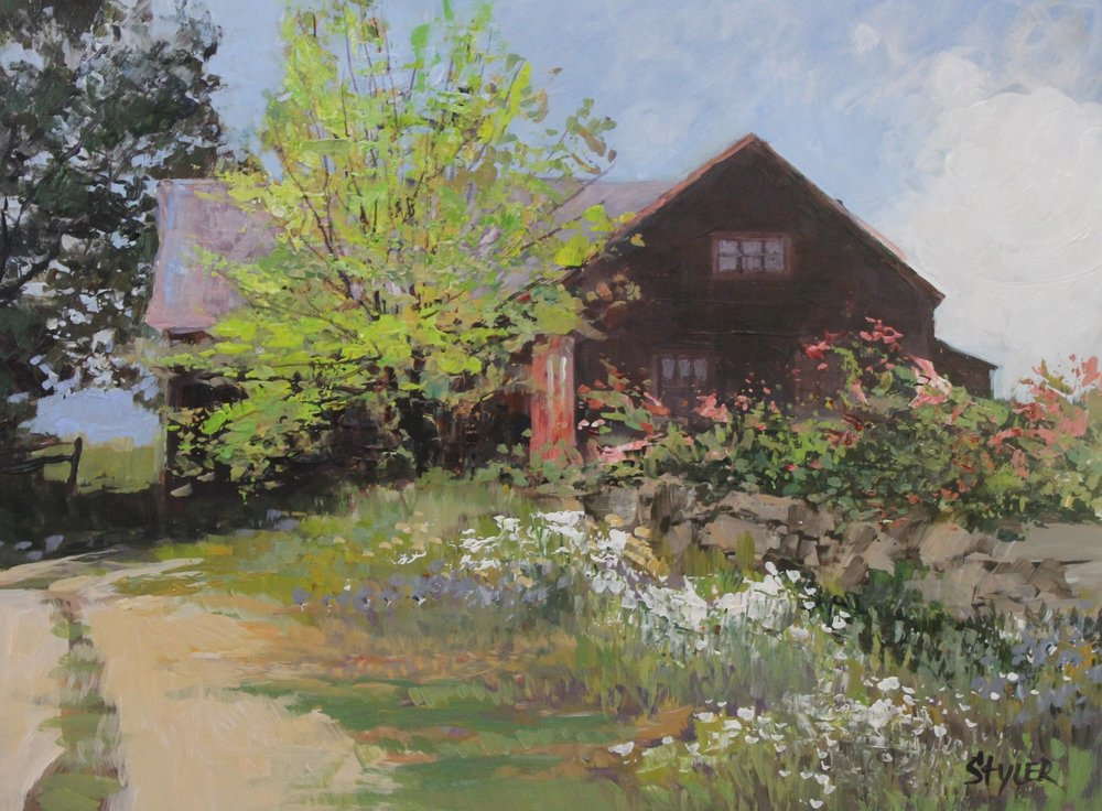 Torrington Barn12x16 (Sold) Acrylic -