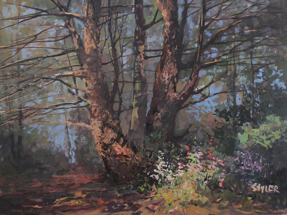 Woodland Pine 12x16 Acryic -
