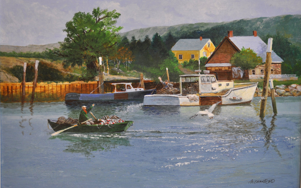 - Fishing village 16x22 acrylic