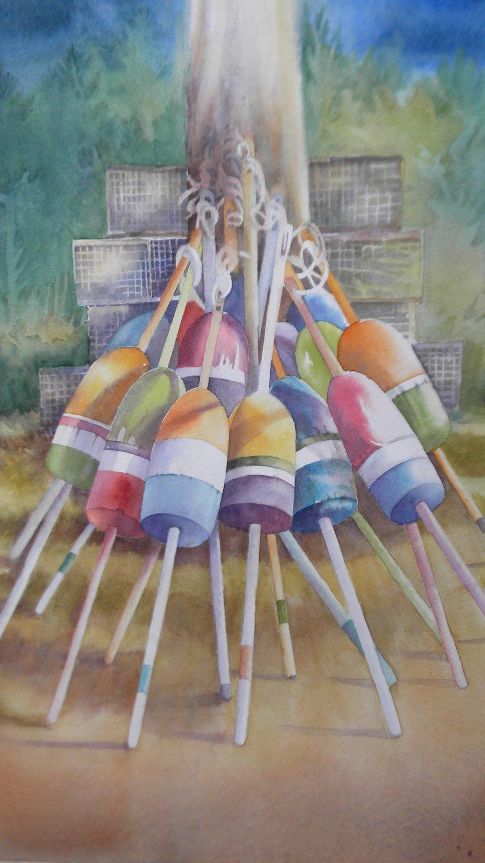 Buoys watercolor