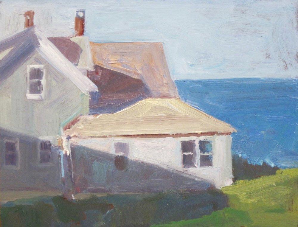 Island House 6 x 8 Oil
