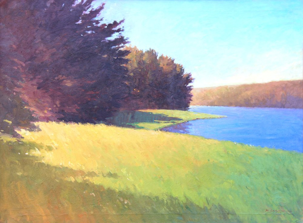 Saugatuck Reservoir 30 x 40 Oil.