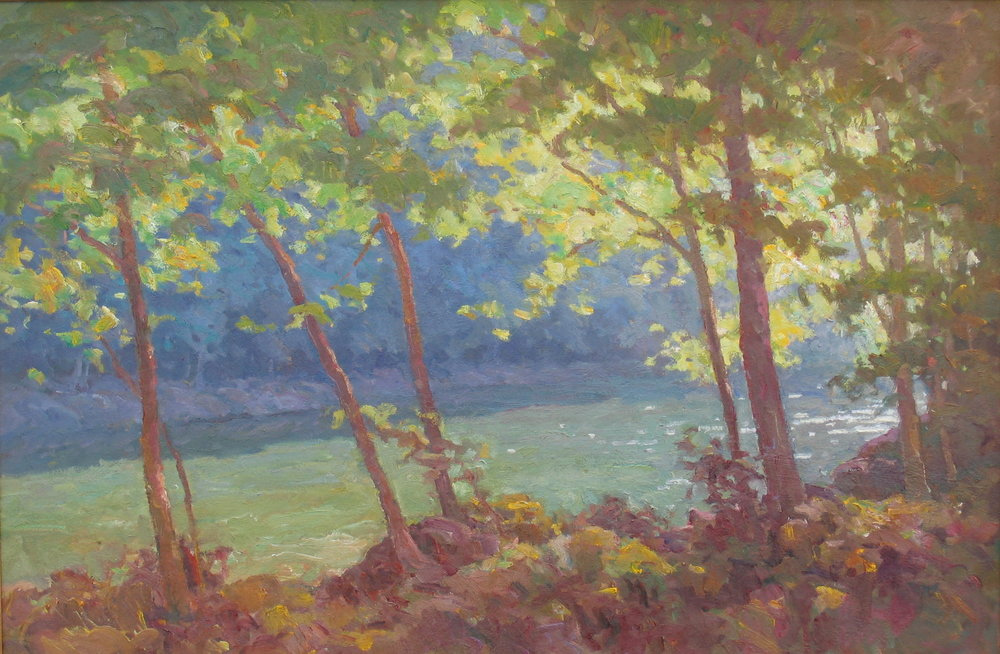 Shadow on the River 24x36  Oil
