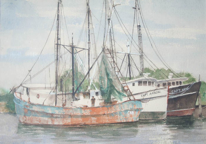 rustbucket 14x20 watercolor