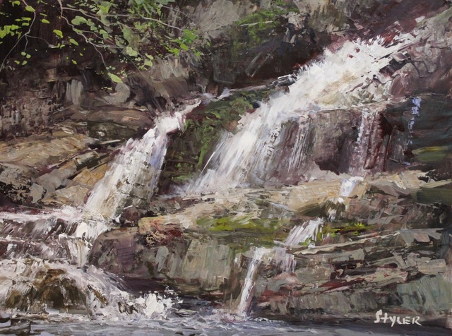 Kent Falls 12x16 Acrylic