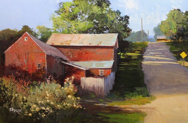 Old Barns -Torrington 20x30 Acrylic  SOLD