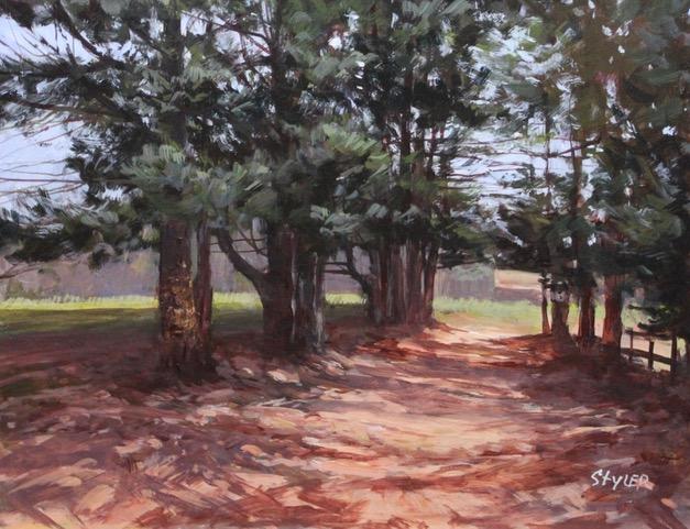 Pine Trees 14x18 Acrcylic