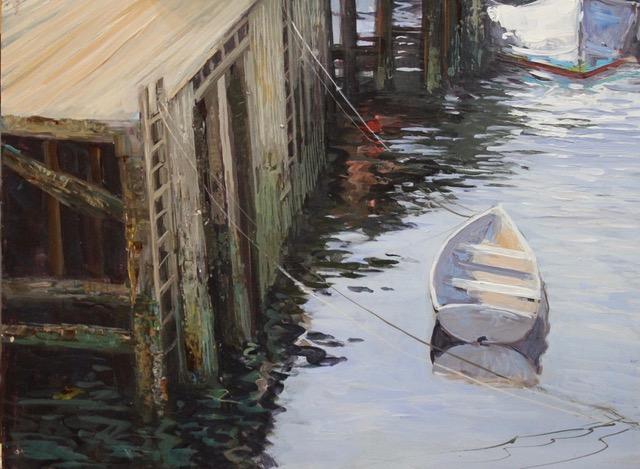 Sabasco Boat 12x16 Acrylic