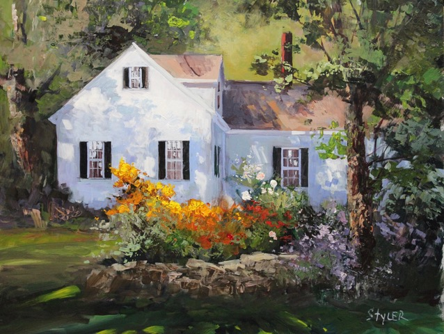 The Cottage 14x18 Acrylic  SOLD